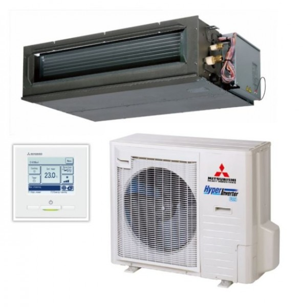 High static Ducted system 7.1kw R32 - Hyper Inverter - 1ph