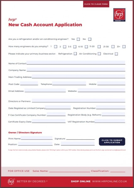 Cash Account Application