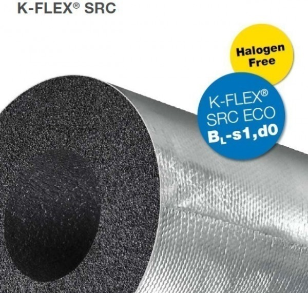 K-Flex 'SRC Eco' Jacketed Insulation 1m Lengths