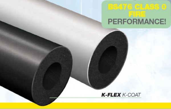 "K-Flex 'K-Coat' Insulation Black 1m Lengths 1/2"" Wall"