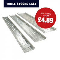 Medium Duty Cable Tray (Pre-Galvanised) Cable Tray Medium Duty 75mm 3m pre galvanised